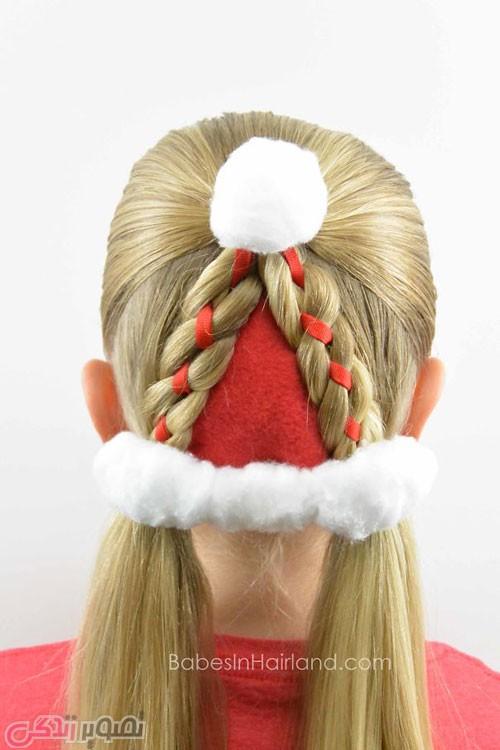 عکس مدل موی دخترانه بافت کلاه بابا نوئل