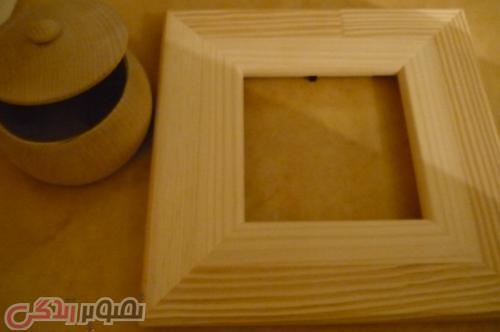 آموزش دکوپاژ , آموزش چینی کردن قاب چوبی