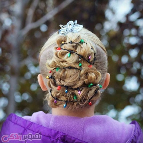مدل بافت موی دخترانه کریسمس