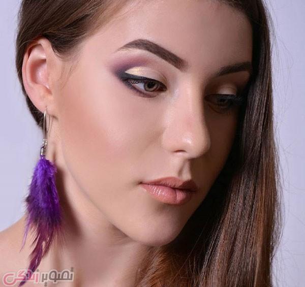 مدل آرایش صورت ساده لایت دخترانه