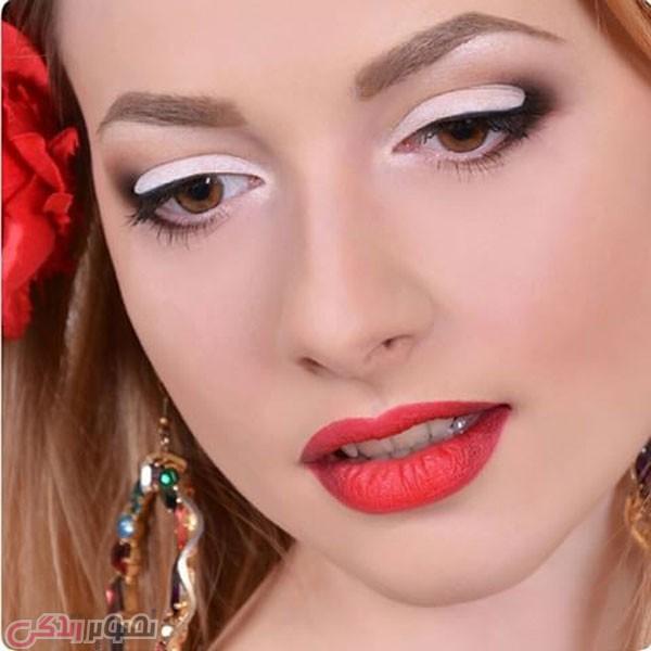 مدل آرایش صورت ملایم دخترانه جدید