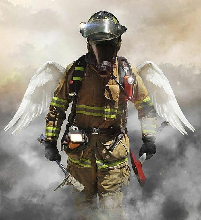 عکس پروفایل آتش نشان فرشته نجاتگر