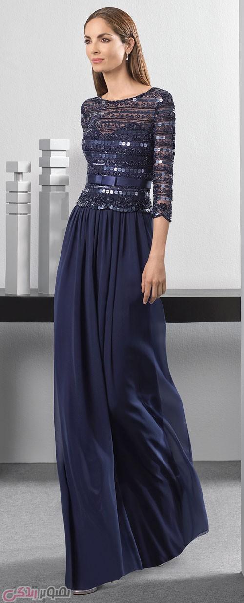 مدل لباس شب 2017 پوشیده