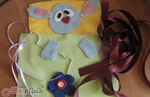 آموزش دوخت کیسه خواب نوزاد طرح خرگوش , سیسمونی بچه