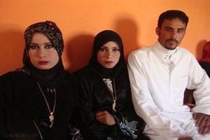 شب زفاف مرد عراقی همزمان با دو زن