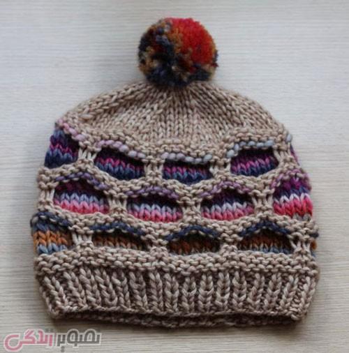 مدل کلاه بافتنی پسرانه میل بافی