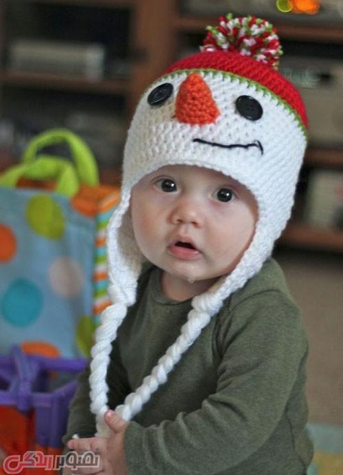 مدل کلاه بافتنی بچگانه قلاب بافی