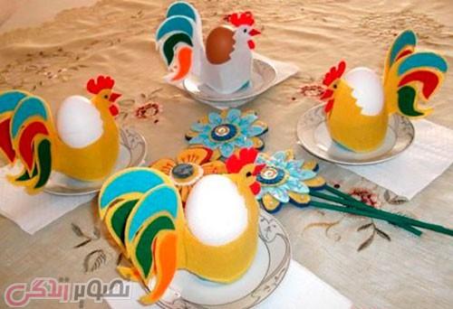 آموزش ساخت ظرف هفت سین خروس