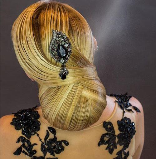 مدل شینیون بسته مو عروس