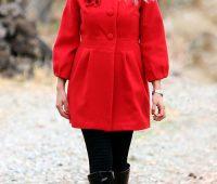 مدل پالتو و مانتو زمستانی دخترانه قرمز