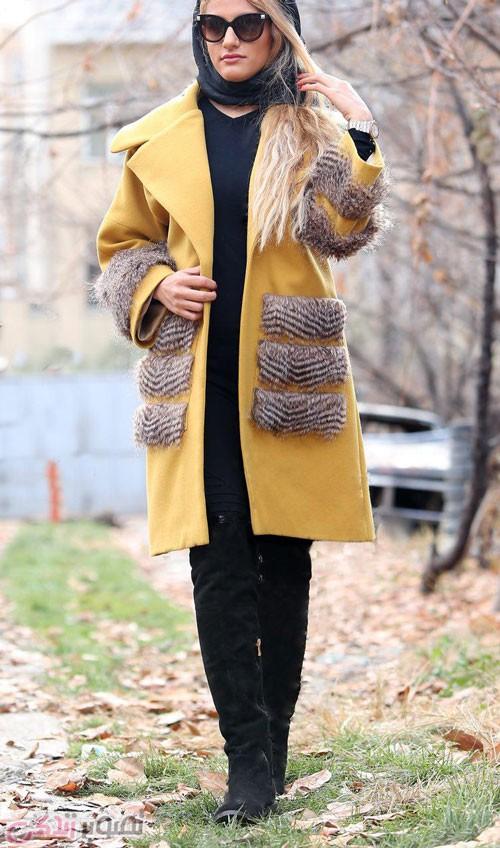 مدل پالتو و مانتو زمستانی خزدار دخترانه