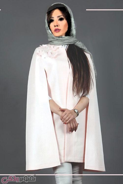 مدل مانتو زمستانی شنلی مجلسی