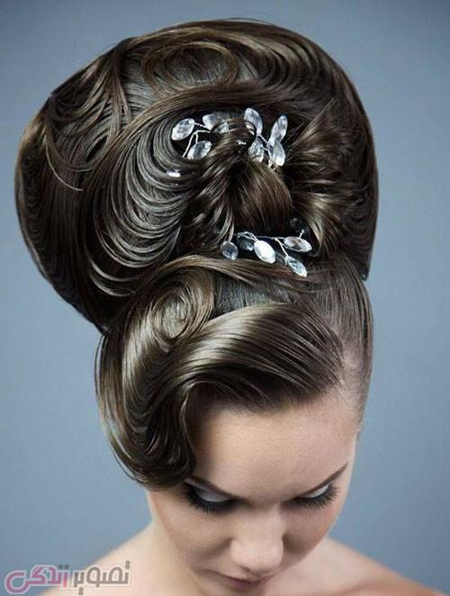 مدل شینیون عروس 2017 , شینیون موی جدید