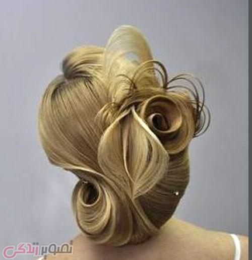 مدل شینیون مو جدید بسته باز