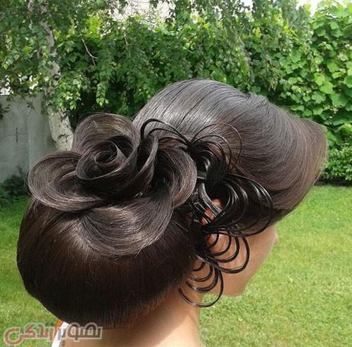 مدل شینیون مو جدید بسته