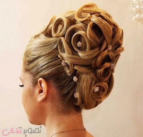 مدل موی شینیون بسته 2017 عروس