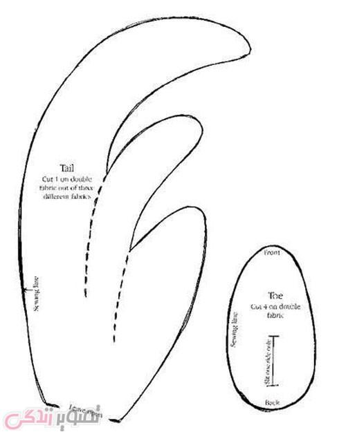 آموزش دوخت عروسک خروس پارچه ای
