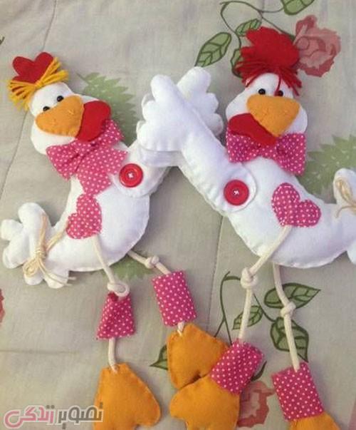 آموزش نمد دوزی  , ایده برای دوخت خروس نمدی برای تزیین هفت سین 96 و عیدی دادن در سال 96