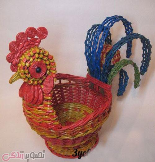 اویز نمدی اشپزخانه آموزش ساخت خروس کاغذی کلاه جشن بچه ها برای نوروز 96 سال خروس