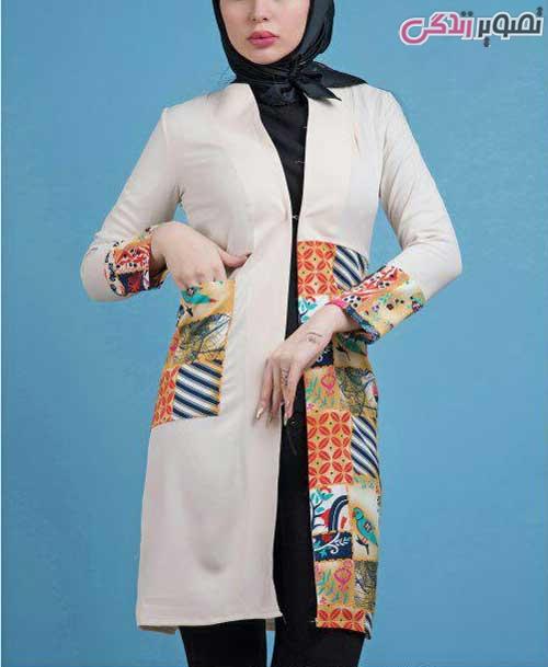 مدل مانتو عید رنگی شیک دخترانه
