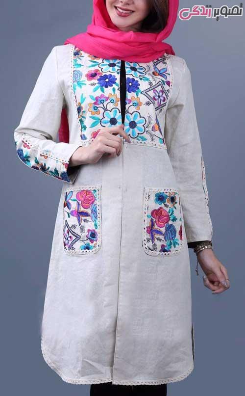 مدل مانتو عید 96 سنتی شیک دخترانه