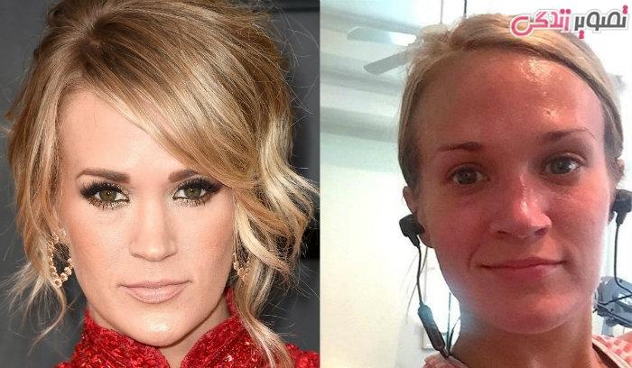 عکس زنان بدون آرایش - عکس بدون آرایش کری اندروود