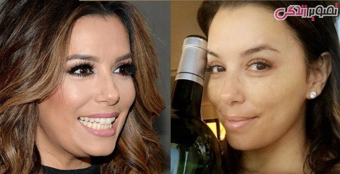 عکس زنان بدون آرایش - عکس بدون آرایش اوا لونگوریا