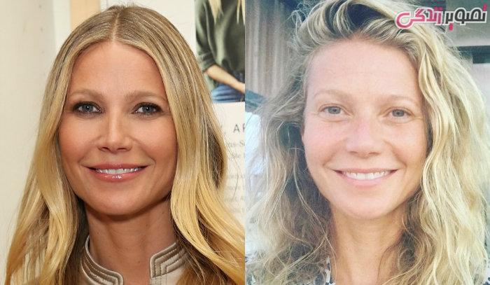عکس زنان بدون آرایش - عکس بدون آرایش گوئینت پالترو