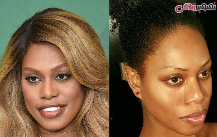 عکس زنان بدون آرایش - عکس بدون آرایش لاورن کاکس