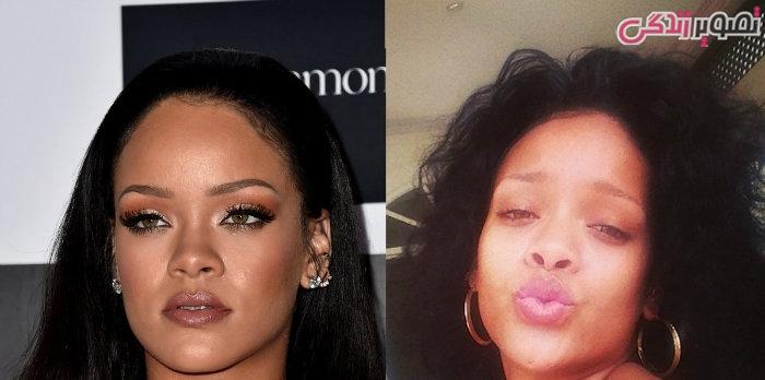 عکس زنان بدون آرایش - عکس بدون آرایش ریحانا