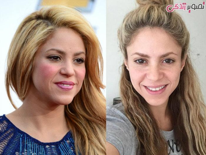 عکس زنان بدون آرایش - عکس بدون آرایش شکیرا