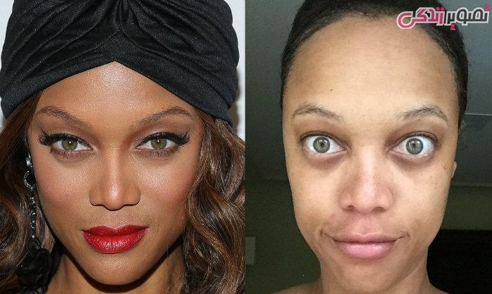عکس زنان بدون آرایش - عکس بدون آرایش تایرا بنکس