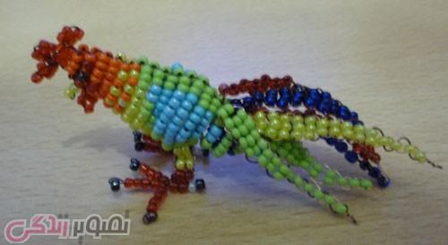 ساخت عروسک خروس با منجوق و مهره