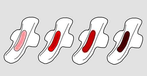 انواع رنگ خون پریود -  خون دوران قاعدگی