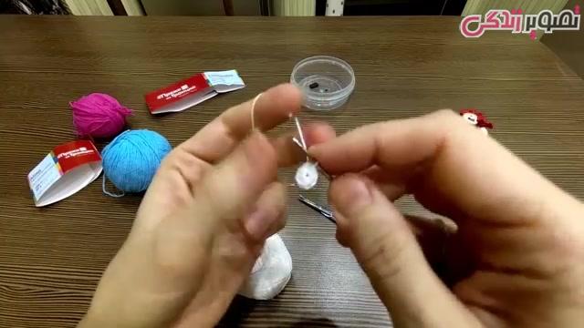 آموزش قلاب بافی خروس مگنت