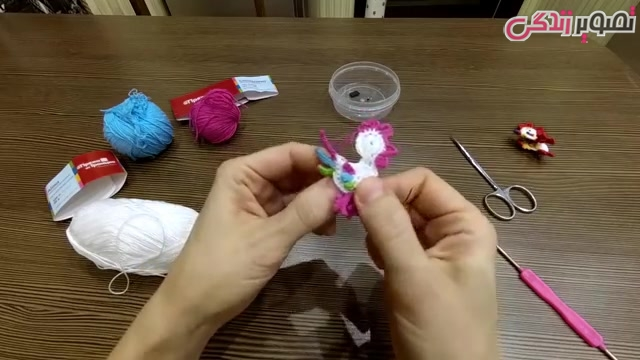 آموزش بافت مگنت خروس قلاب بافی