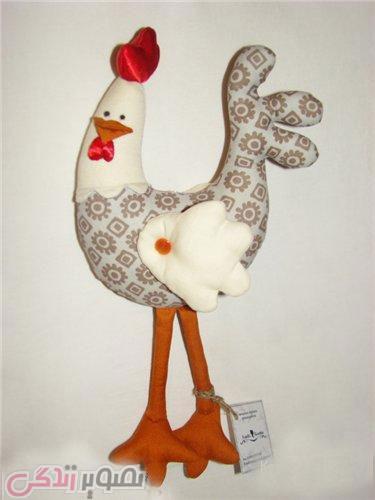 نمونه عروسک خروس نمدی, الگوی خروس پارچه ای