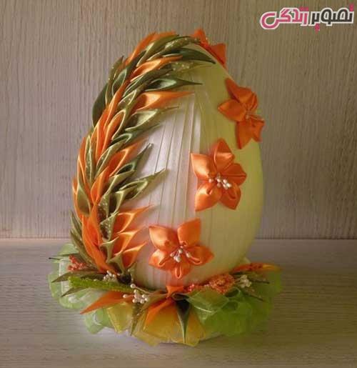 تزیین تخم مرغ هفت سین با روبان