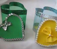 آموزش ساخت جعبه هدیه قلبی ولنتاین