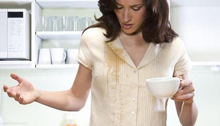 نکات خانه داری, پاک کرن لکه قهوه