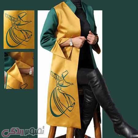 مدل مانتو رنگ سال سبز و زرد