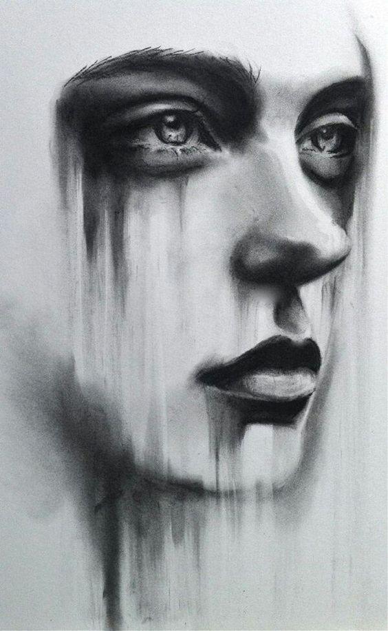 عکس پروفایل سیاه و سفید دخترانه غمگین
