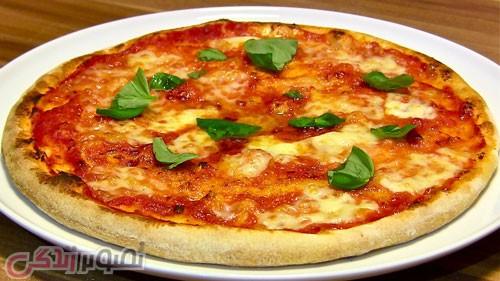 فست فود  , طرز تهیه پیتزا مارگاریتا خانگی با دستور جیمی الیور غذایی ساده و خوشمزه