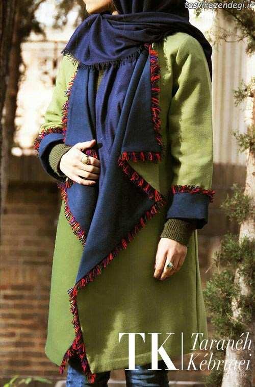 مدل مانتو بهاره یقه انگلیسی