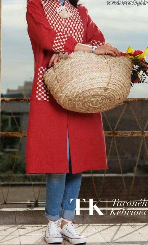 مدل مانتو بهاره دخترانه قرمز