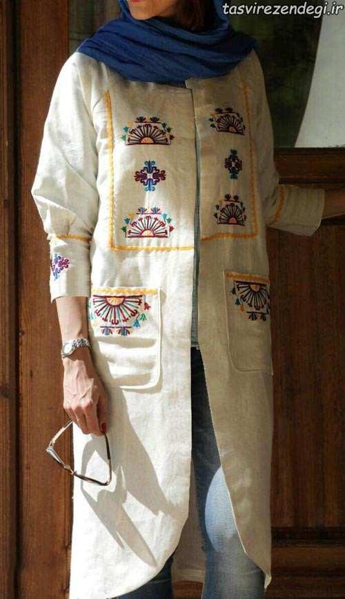 مدل مانتو سنتی شاد