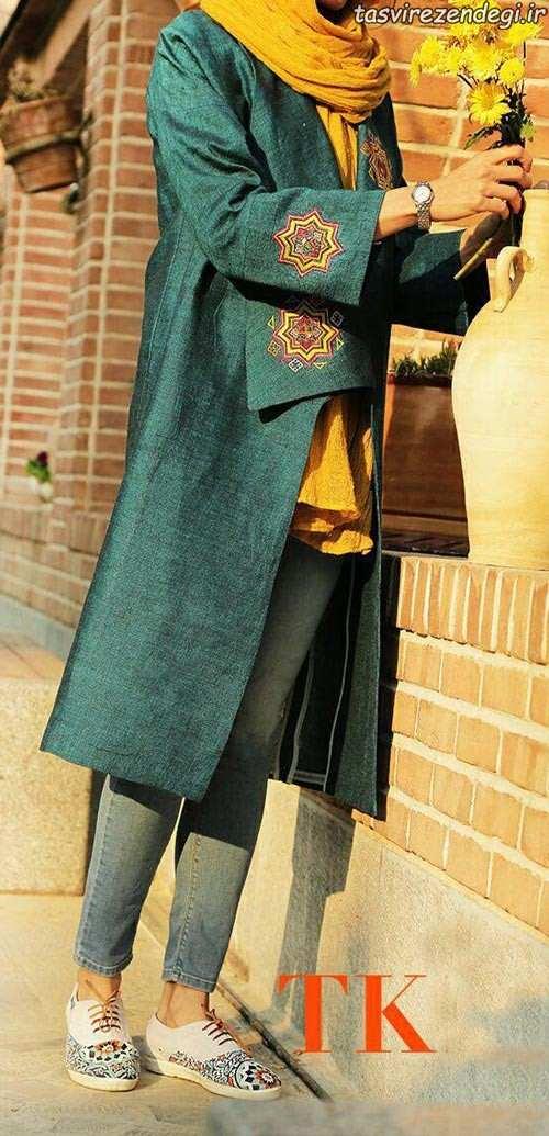 مدل مانتو سنتی دخترانه برای عید