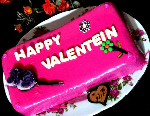 طرز تهیه کیک ولنتاین با گاناش رنگی