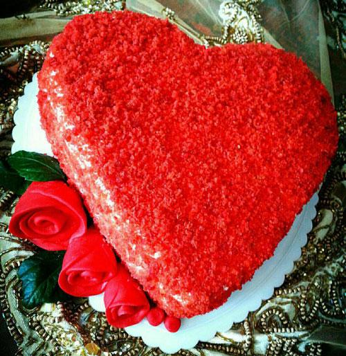 طرز تهیه کیک مخملی قرمز ولنتاین
