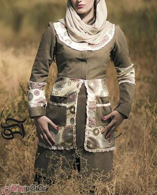 مدل مانتو عید 96 جلو بسته اسلامی